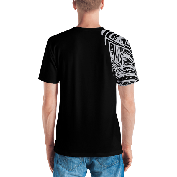 Men's Samoan Tattoo Print Polyester T-Shirt