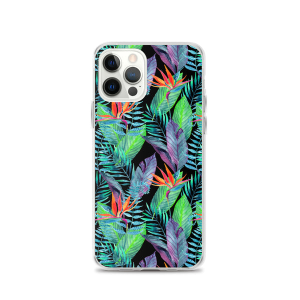Bird of Paradise iPhone Case (Larger Flowers) -  iPhone Case 12, 12 Mini, 12 Pro, 12 Pro max, 11, 11 Pro, 11 Pro max 7, 8, plus SE, XR, X, XS, Xs max