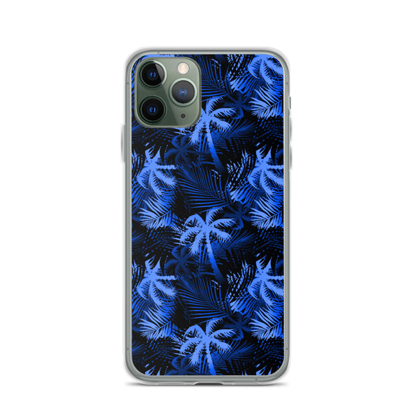 blue palm tree iphone phone case