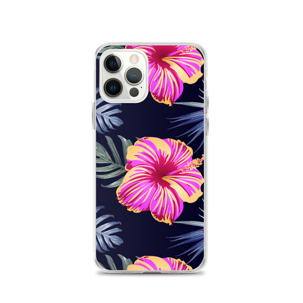 Bright Pink Hibiscus iPhone Case - Larger Flowers -  iPhone Case 12, 12 Mini, 12 Pro, 12 Pro max, 11, 11 Pro, 11 Pro max 7, 8, plus SE, XR, X, XS, Xs max