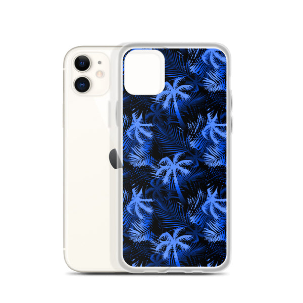 blue Hawaiian palm tree case