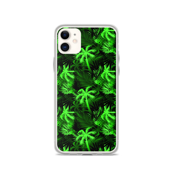 lime palm tree iphone case