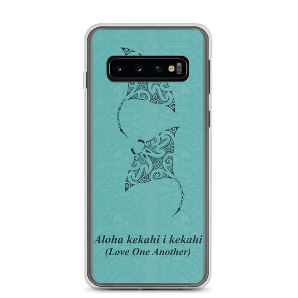 Manta Ray Tattoo Samsung Case Blue