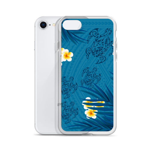 Honu (Hawaiian Sea Turtle) with Ferns and Plumerias Tattoo iPhone Case -  iPhone Case 11, 11 Pro, 11 Pro max 7, 8, plus SE, XR, X, XS, Xs max