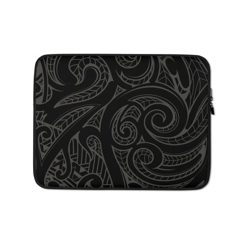 Polynesian Tone on Tone Tattoo Laptop Sleeve / Case