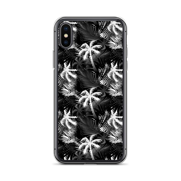Palm Tree iPhone Case - Black and White -  iPhone Case 11, 11 Pro, 11 Pro max 7, 8, plus SE, XR, X, XS, Xs max