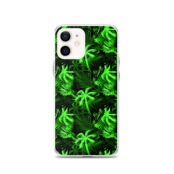 lime green palm tree iphone case