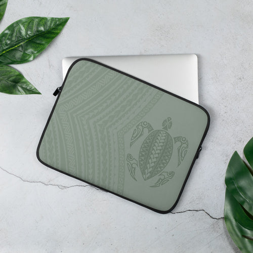 Honu (Hawaiian Sea Turtle) Tattoo Laptop Sleeve / Case