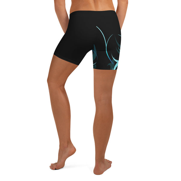 Wave Pattern Women's Crossfit / Athletic Shorts