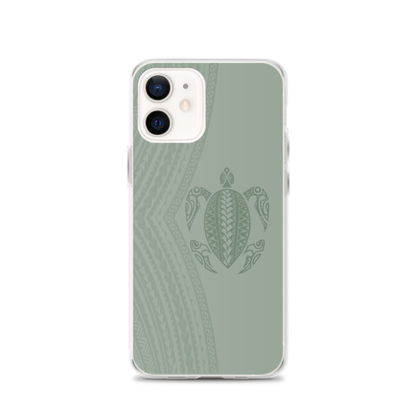 Honu tattoo green iphone case