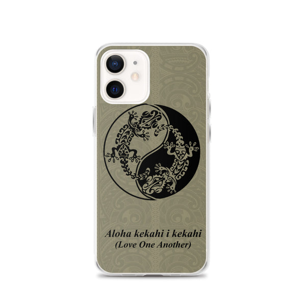 Brown Gecko Tattoo Iphone Case
