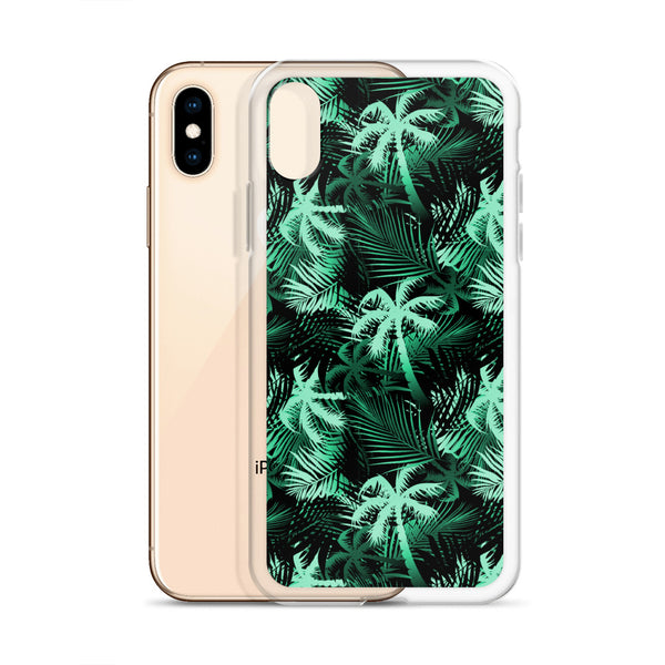 green tropical phone case