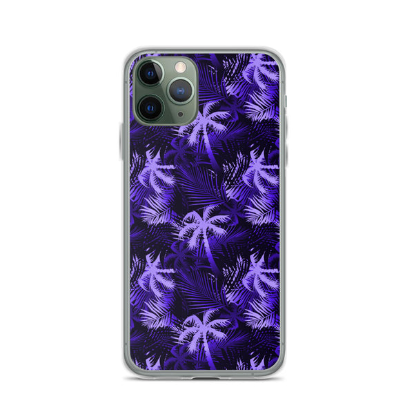 purple tropical iphone case