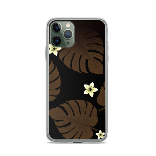 Monstera Leaf and Plumeria iPhone Case -  iPhone Case 11, 11 Pro, 11 Pro max 7, 8, plus SE, XR, X, XS, Xs max