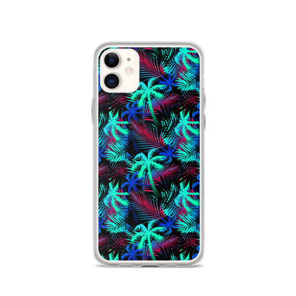 palm tree multi colored iphone case