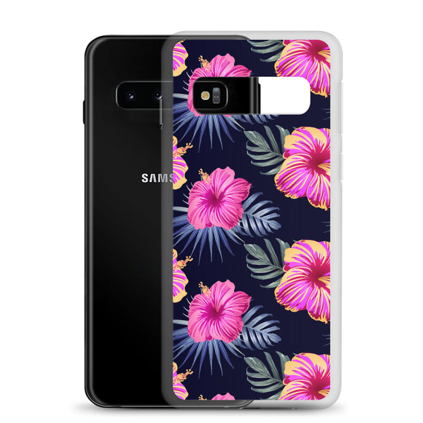 Bright Pink Hibiscus Samsung Case - Samsung Galaxy Case S10 S10+ S10E S20 Plus and Ultra