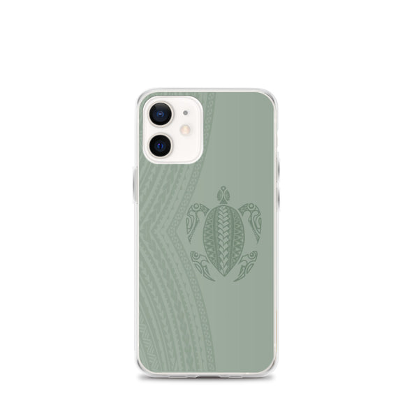 Polynesian tattoo phone case green