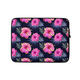Bright Pink Hibiscus Laptop Sleeve / Case
