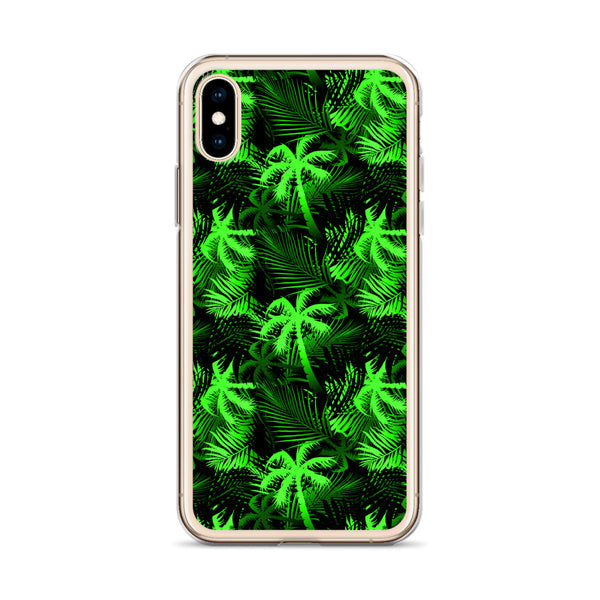 green palm tree fern iphone case