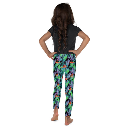 Bird of Paradise Hawaiian Floral Toddler & Youth Leggings