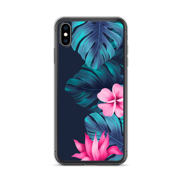 Tropical Flowers and Ferns iPhone Case -  iPhone Case 11, 11 Pro, 11 Pro max 7, 8, plus SE, XR, X, XS, Xs max