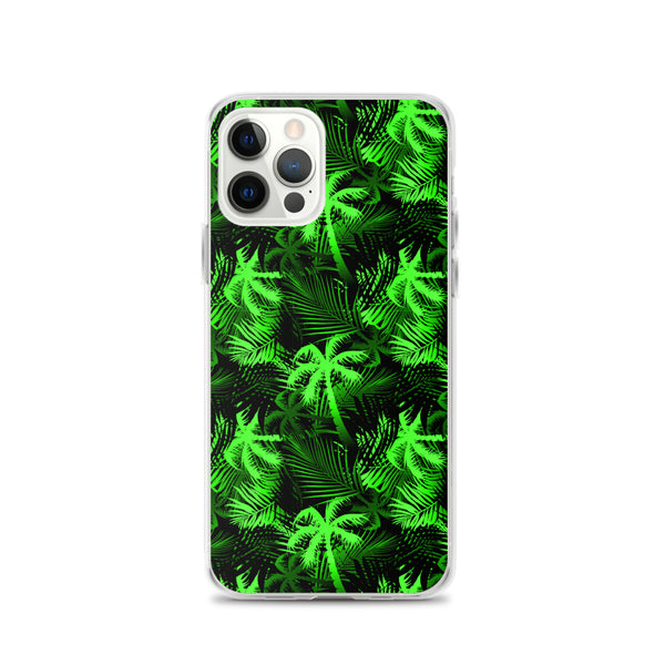 lime green fern iphone case