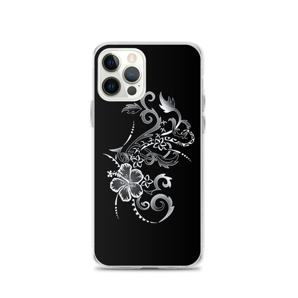 hibiscus tattoo polynesian iphone case