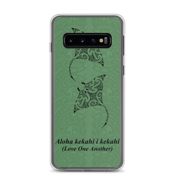 Manta Ray Tattoo Samsung Case Green