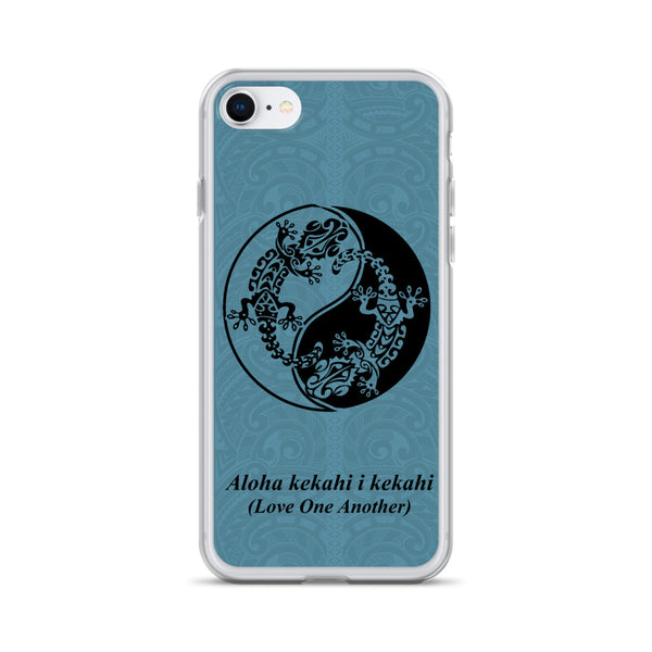 Blue Gecko Tattoo Iphone case