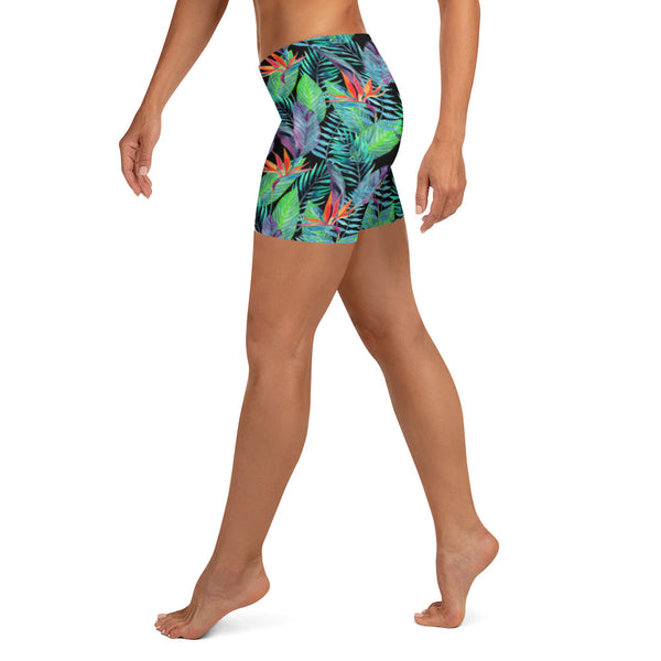 Bird of Paradise Hawaiian Floral Crossfit / Athletic Shorts