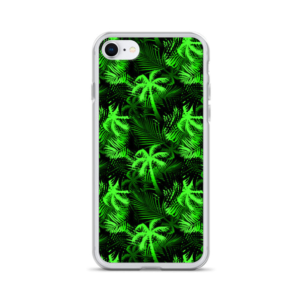 bright green palm tree iphone case