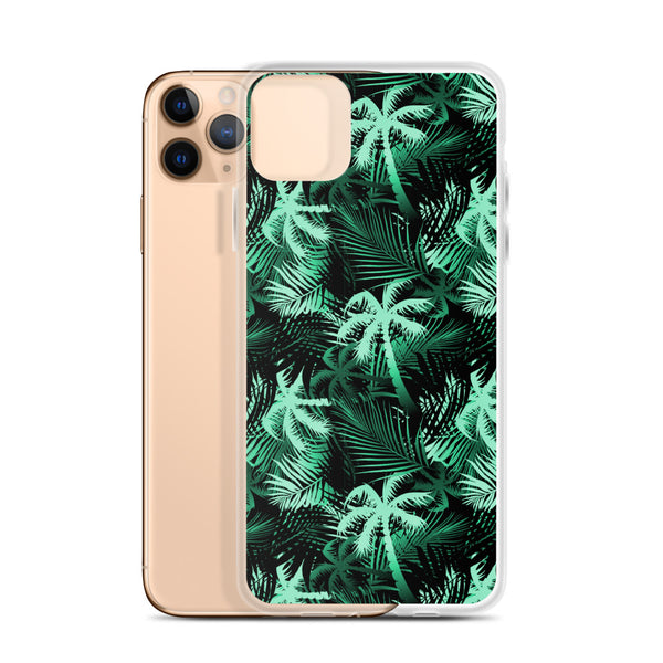 green palm tree iphone phone case