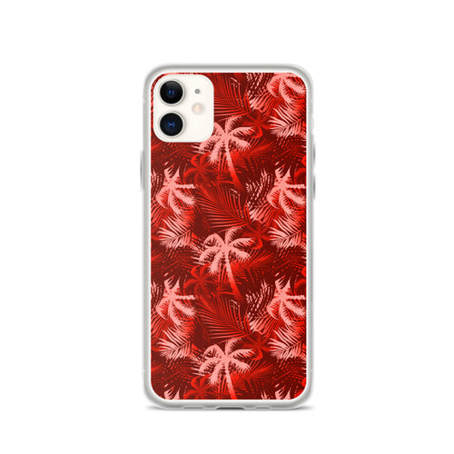Palm Tree iPhone Case - Red -  iPhone Case 11, 11 Pro, 11 Pro max 7, 8, plus SE, XR, X, XS, Xs max