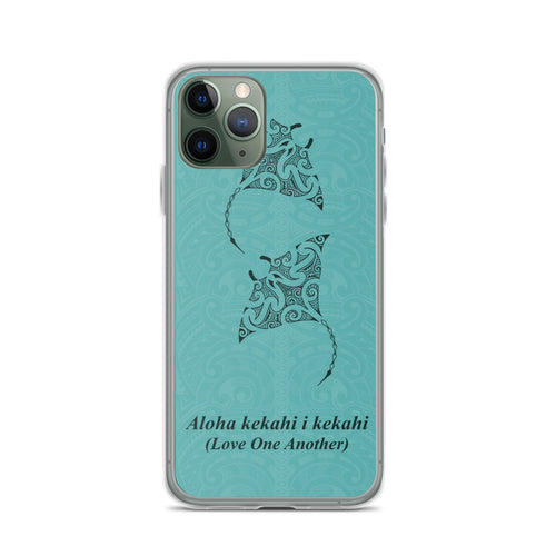 Manta Ray Polynesian Tattoo Iphone Case Aloha Kekahi I Kekahi (Love One Another) -  iPhone Case 11, 11 Pro, 11 Pro max 7, 8, plus SE, XR, X, XS, Xs max