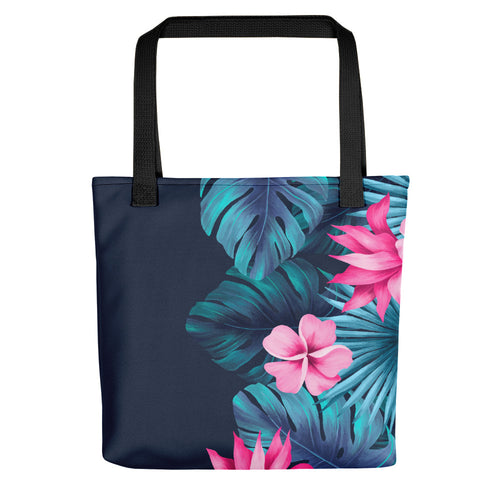 Tropical Floral and Fern Tote bag