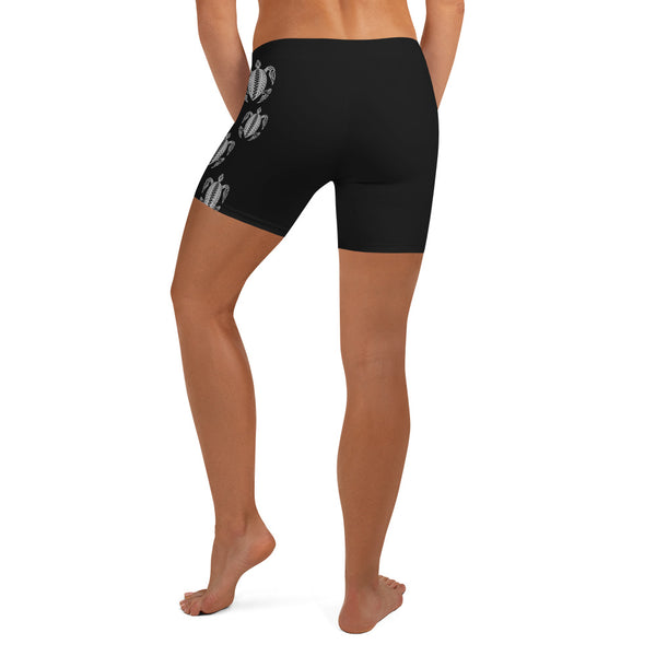 Honu Hawaiian Sea Turtle Tattoo Women's Athletic / Crossfit Shorts