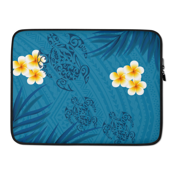 Polynesian blue laptop sleeve