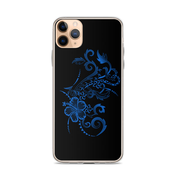 Hawaiian tattoo hibiscus iphone case
