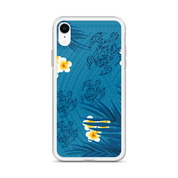 Plumeria blue iphone case