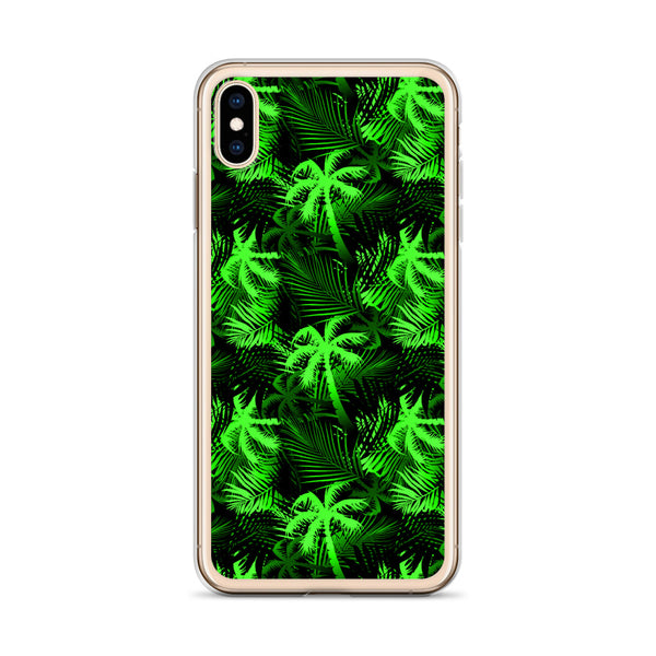 neon green tropical iphone case