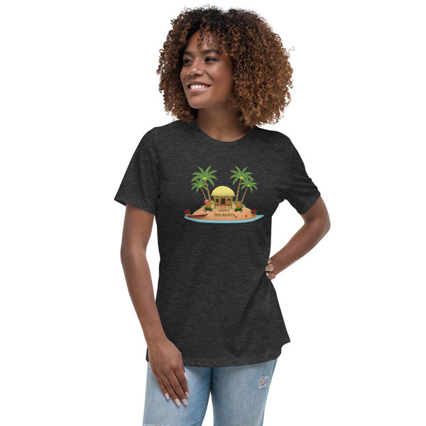 Christmas in Hawaii - Happy Huladays / Mele Kalikimaka Women's Relaxed Fit / Semi Fitted T-Shirt