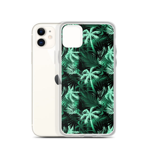 Green palm tree iphone case