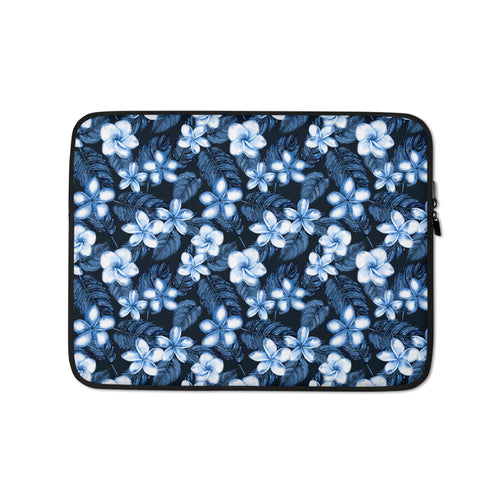 Blue Plumeria Laptop Sleeve / Case