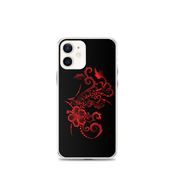 Hibiscus tattoo iphone case