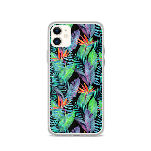 Bird of Paradise iPhone Case (Larger Flowers) -  iPhone Case 11, 11 Pro, 11 Pro max 7, 8, plus SE, XR, X, XS, Xs max