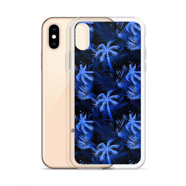 blue palm tree iphone case
