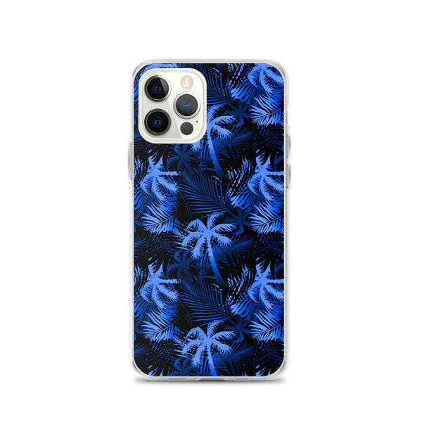 blue palm tree phone case