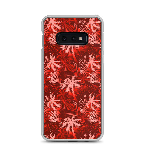 red palm tree galaxy phone case