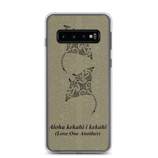 Manta Ray Polynesian Tattoo Aloha Kekahi I Kekahi (Love One Another)  - Samsung Case - Galaxy Case S10 S10+ S10E S20 Plus and Ultra