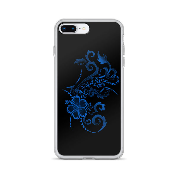 Polynesian hibiscus iphone case